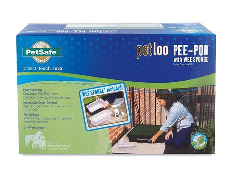 Pet Loo Pee Pod with Wee Sponge