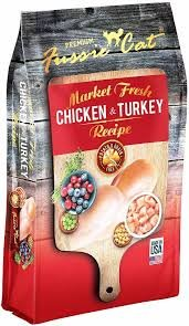 Fussie Cat Chicken and Turkey Dry Food 4 LB