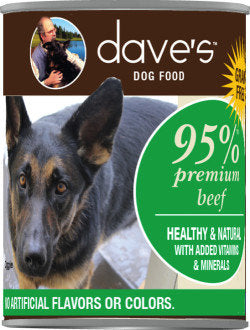 Dave's 95% Premium Meats Canned Dog Food Beef Recipe