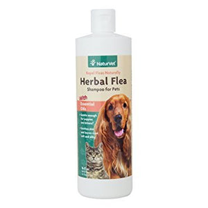 NaturVet Herbal Flea Shampoo for Cats and Dogs