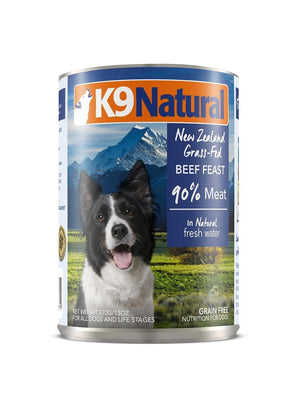 K9 Natural Beef Feast Dog Food Can