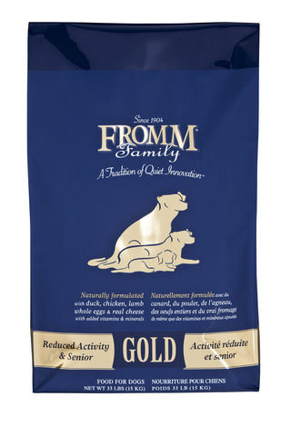 Fromm Gold Reduced Activity Senior Dry Food 15lb