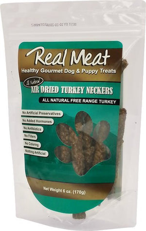 Real Meat Turkey Neckers Dog Chews
