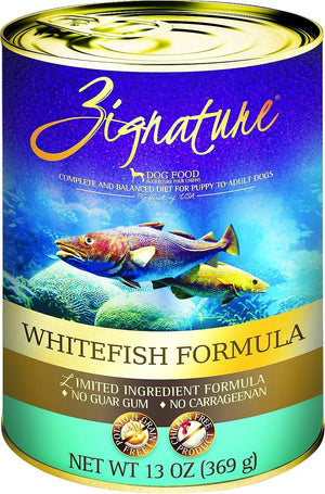 Zignature Grain Free Whitefish Can 13oz