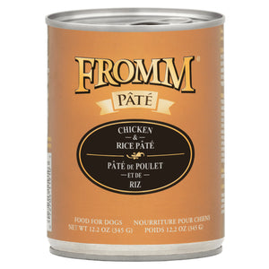 Fromm Chicken & Rice Pate Canned Dog Food 12.2oz