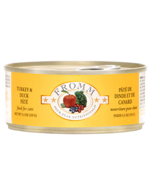 Fromm Turkey & Duck Pate Canned Cat Food 5.5oz