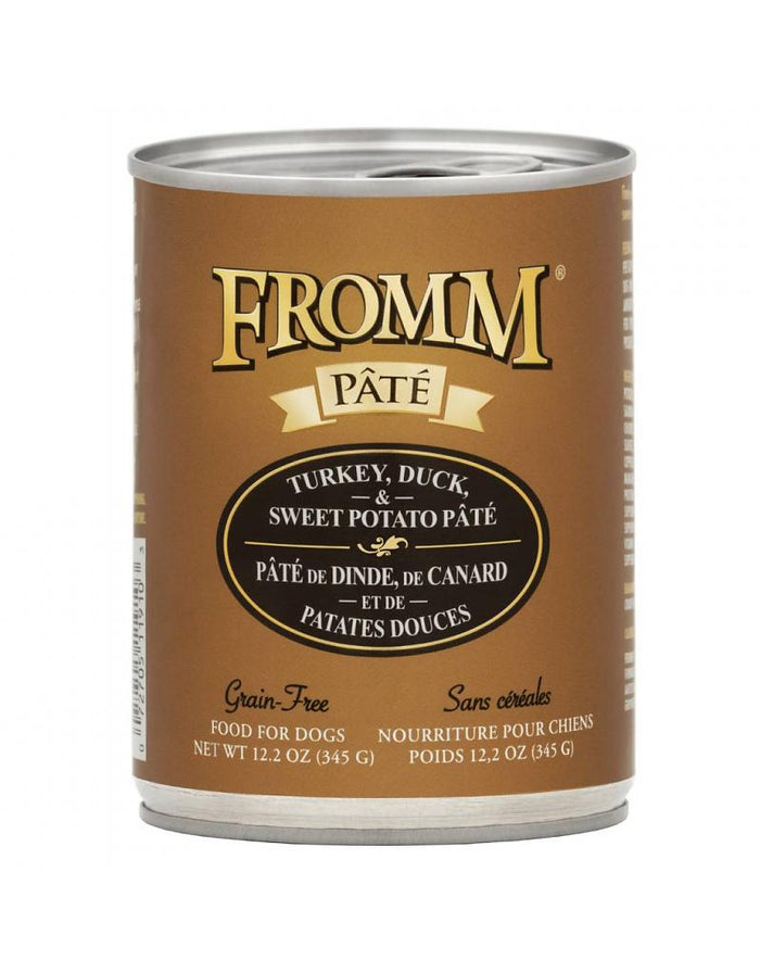 Fromm Turkey, Duck & Sweet Potato Pate Canned Dog Food 12.2oz