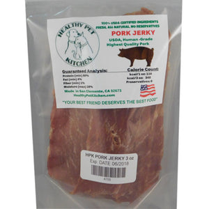 Healthy Pet Kitchen Pork Jerky Dog Treat 3oz