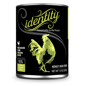 Identity 95% Free-Range Cobb Chicken Wet Dog Food 13oz