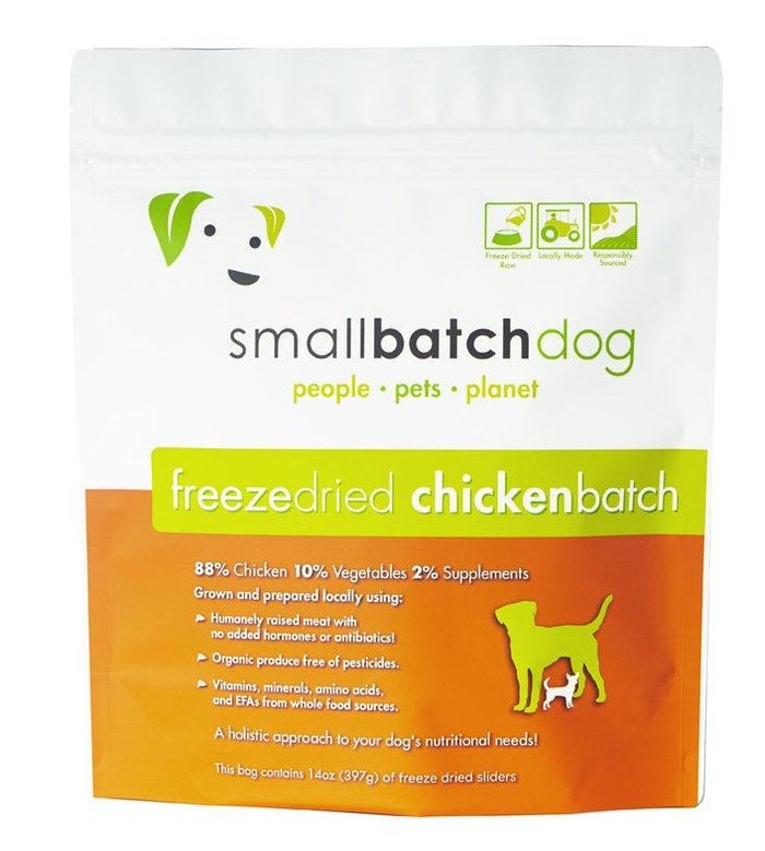 SmallBatch Freeze-Dried Chicken Sliders Dog Food 14oz