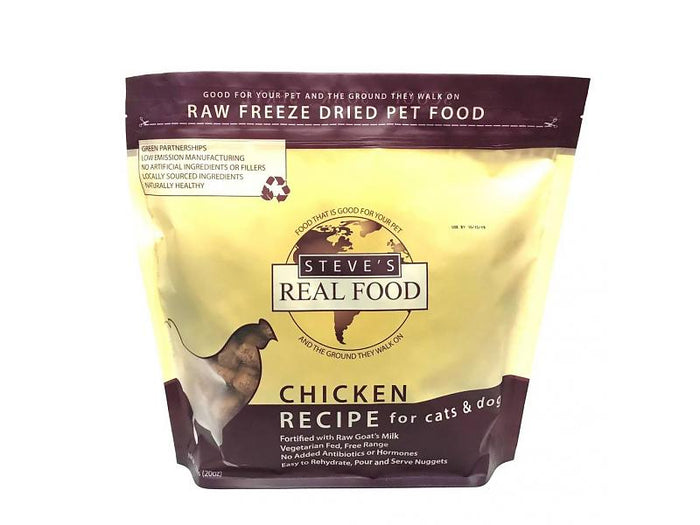Steve's Real Food Freeze Dried Chicken Diet for Cats and Dogs