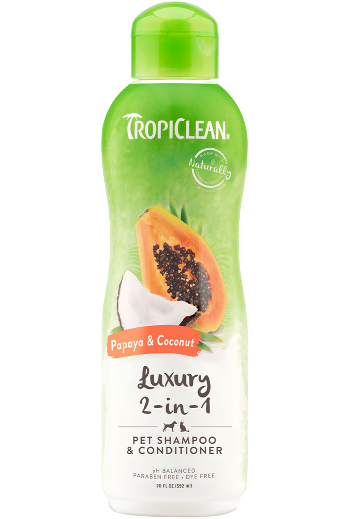 TropiClean Papaya Plus Two in One Shampoo