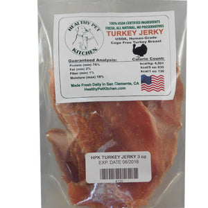 Healthy Pet Kitchen Turkey Jerky Dog Treats 3 oz