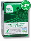 Open Farm Homestead Turkey Rustic Blend 5.5 oz Cat
