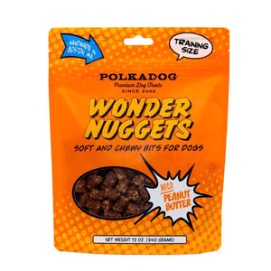 Polka Dog Wonder Nuggets Peanut Butter Dog Treats 12oz