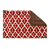 Tall Tail Red Bone Fleece Dog Crate Bed