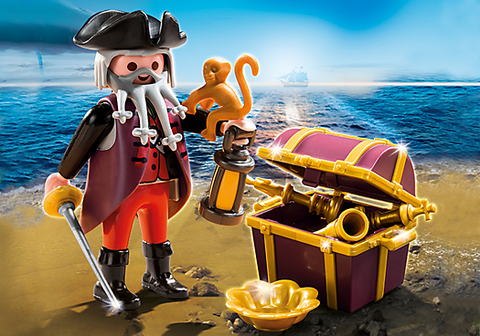 Playmobil - Pirate with Treasure Chest - 4783 - Bunyip Toys