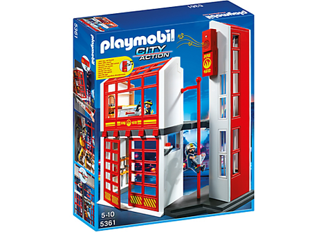 Playmobil - Fire Station with Siren - 5361 - Bunyip Toys - 1