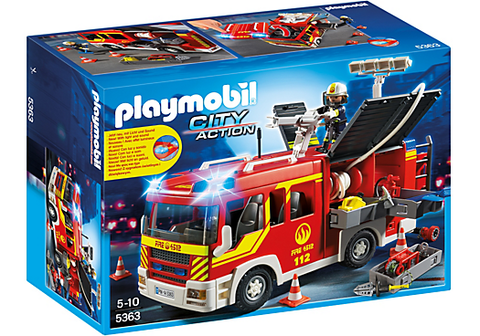 Playmobil - Fire Engine with Light and Siren - 5363 - Bunyip Toys