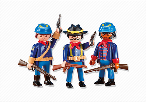 Playmobil - 3 Union Soldiers - 6274 - Bunyip Toys