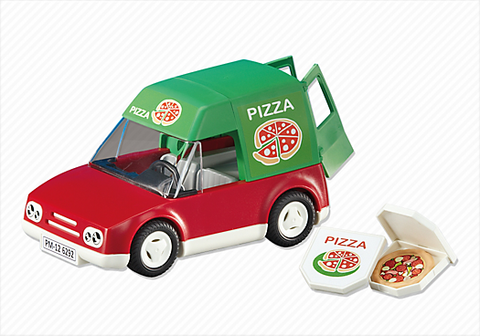 Playmobil - Pizza Delivery Car - 6292 - Bunyip Toys