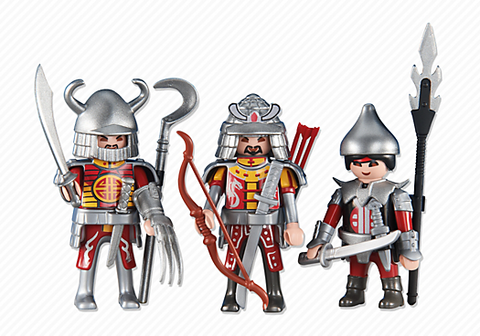 Playmobil - 3 Red Dragon Knights - 6326 - Bunyip Toys