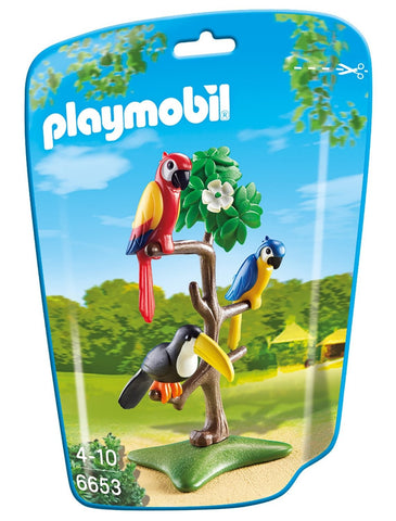 Playmobil - Parrots and Toucan in a Tree - 6653 - Bunyip Toys - 1