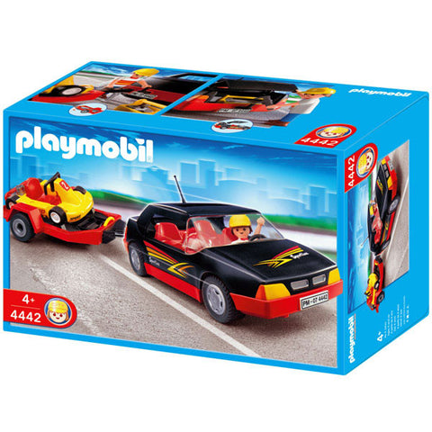 Playmobil - Sport car and Go-cart - 4442 - Bunyip Toys - 1