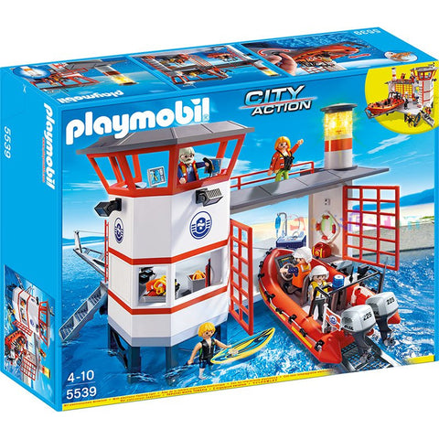Playmobil - Coast Guard Station - 5539 - Bunyip Toys - 1