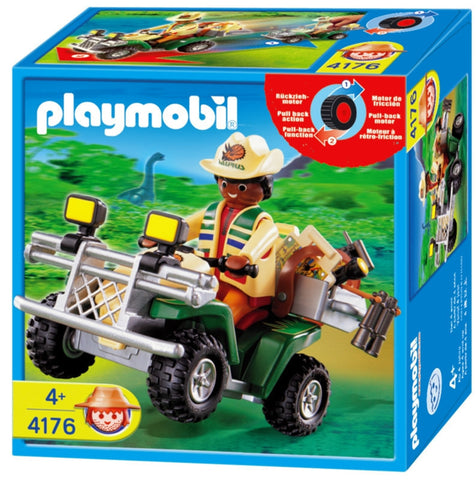 Playmobil - Dinosaur Researcher on Quad Bike - 4176 - Bunyip Toys - 1