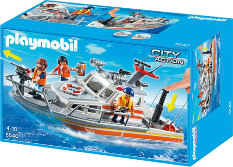 Playmobil - Coast Guard Boat - 5540 - Bunyip Toys - 1