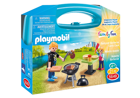 Playmobil - BBQ mini Carrycase - 5649 - Bunyip Toys - 1