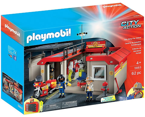 Playmobil - Takealong Fire Station - 5663 - Bunyip Toys - 1