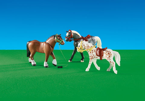 Playmobil - Three Race Horses - 6360 - Bunyip Toys