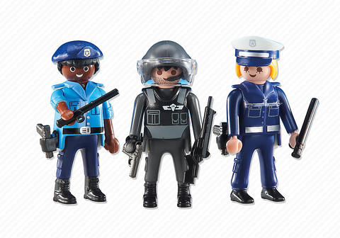 Playmobil - 3 Police Officers - 6501 - Bunyip Toys
