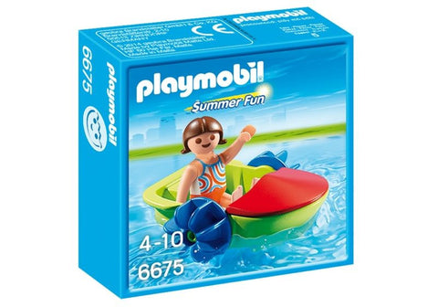 Playmobil - Child in Paddle Boat - 6675 - Bunyip Toys - 1