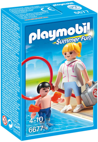 Playmobil - Swimming Lesson - 6677 - Bunyip Toys - 1