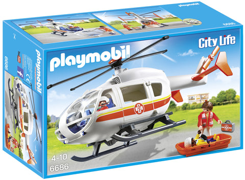 Playmobil - Helicopter Ambulance - 6686 - Bunyip Toys - 1