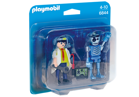 Playmobil - Scientist and Robot - 6844 - Bunyip Toys - 1