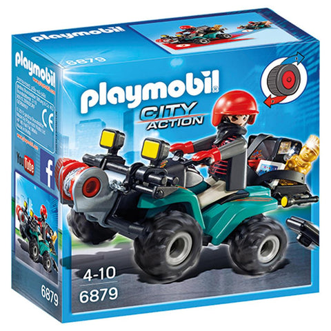 Playmobil - Robber on Quad Bike - 6879 - Bunyip Toys - 1