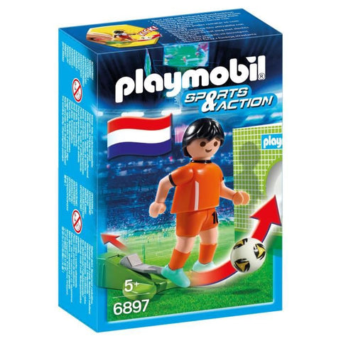 Playmobil - Netherlands Soccer Player - 6897 - Bunyip Toys
