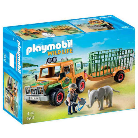 Playmobil - Ranger Vehicle with Trailer - 6937 - Bunyip Toys - 1