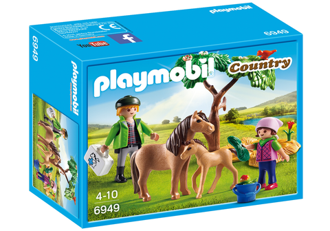 Playmobil - Vet, Pony and Foal - 6949 - Bunyip Toys - 1