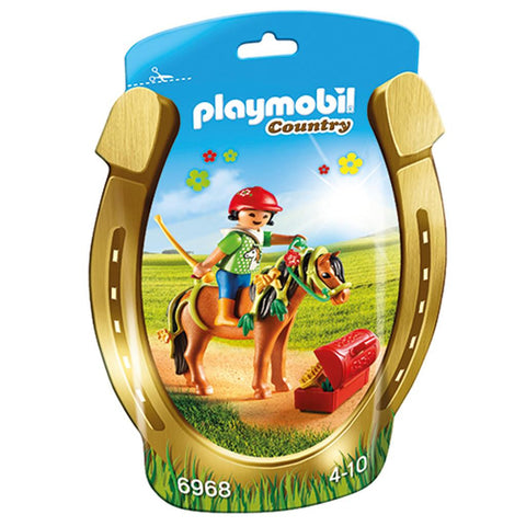 Playmobil - Girl with Flower Pony - 6968 - Bunyip Toys - 1