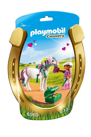 Playmobil - Girl with Heart Pony - 6969 - Bunyip Toys - 1