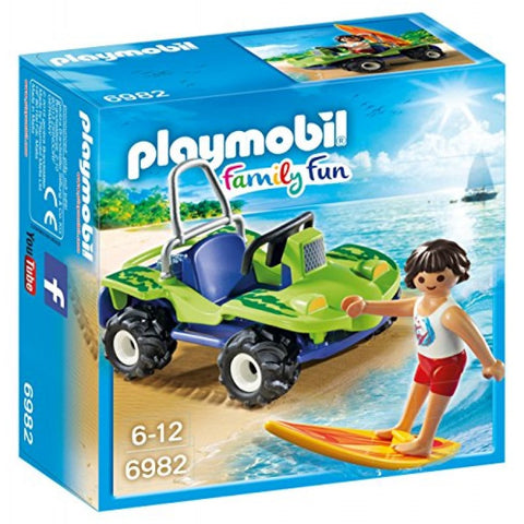 Playmobil - Surfer with Dune Buggy - 6982 (damaged) - Bunyip Toys - 1
