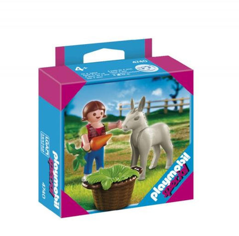 Playmobil - Child with Donkey Foal - 4740 - Bunyip Toys