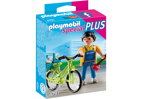 Playmobil - Handyman with Bike - 4791 - Bunyip Toys