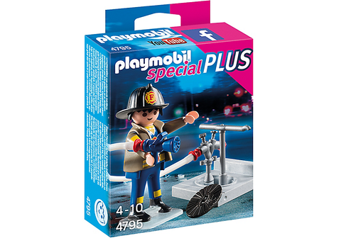 Playmobil - Fireman with Hydrant - 4795 - Bunyip Toys