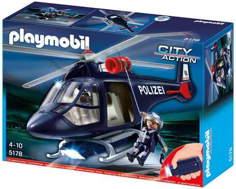 Playmobil - Police Helicopter - 5183 - Bunyip Toys